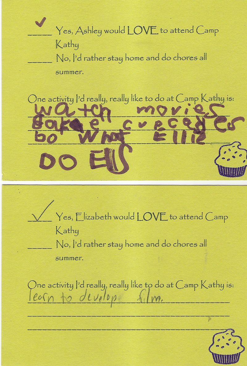 Camp Kathy RSVP Response